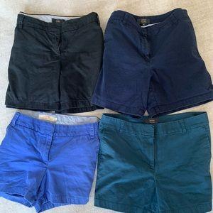 Set of 4 JCrew shorts